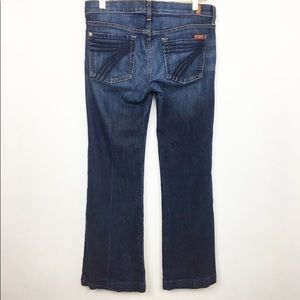 7 for All Mankind DOJO Bootcut Jeans dark wash -28